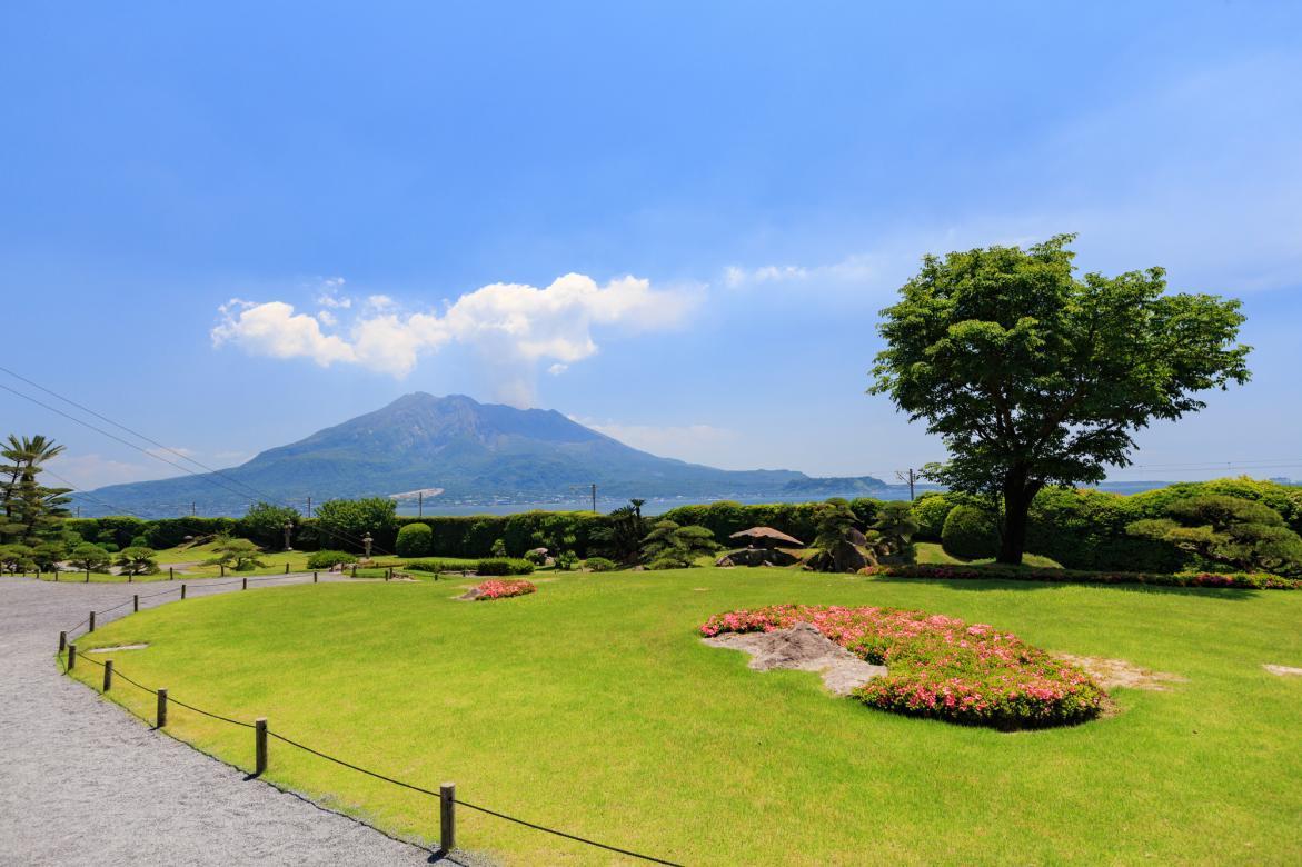 可眺望樱岛绝美景色的岛津家别墅-0