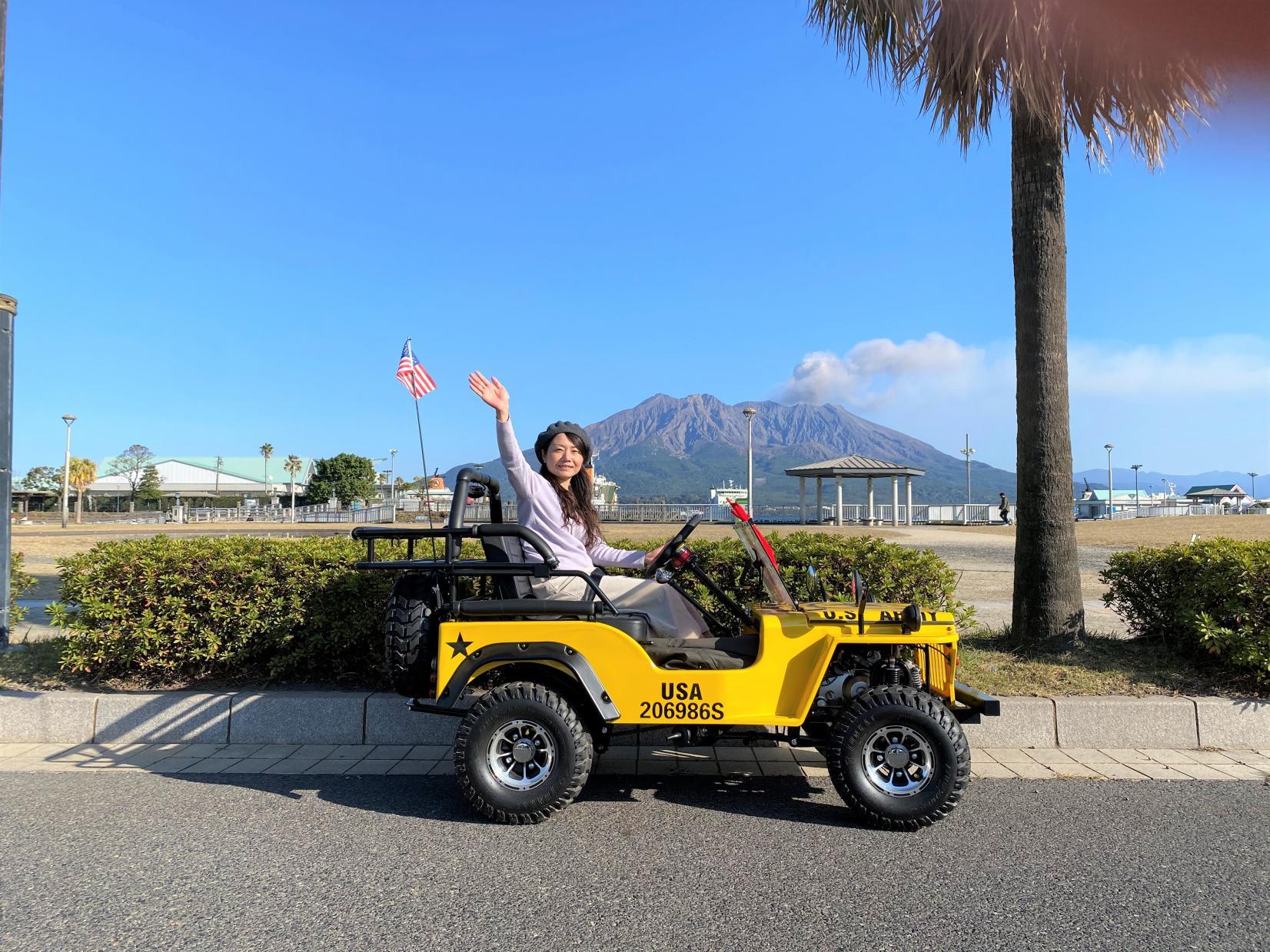 最後はやっぱり桜島と記念撮影-0