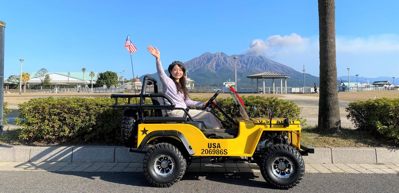 <My Mini Jeep Experience Story > Experience the wind (and sometimes volcanic ash) of tropical Kagoshima!-1