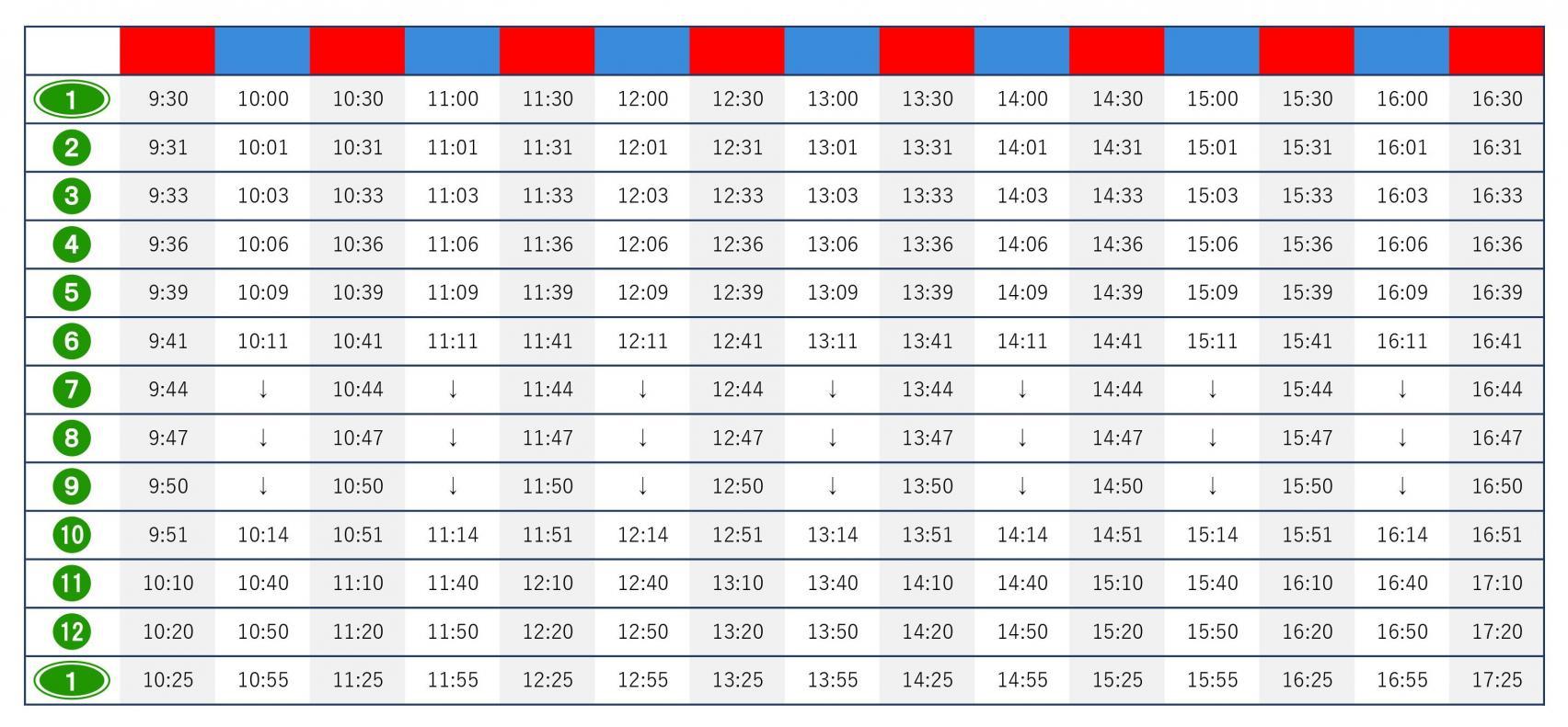 时刻表-1