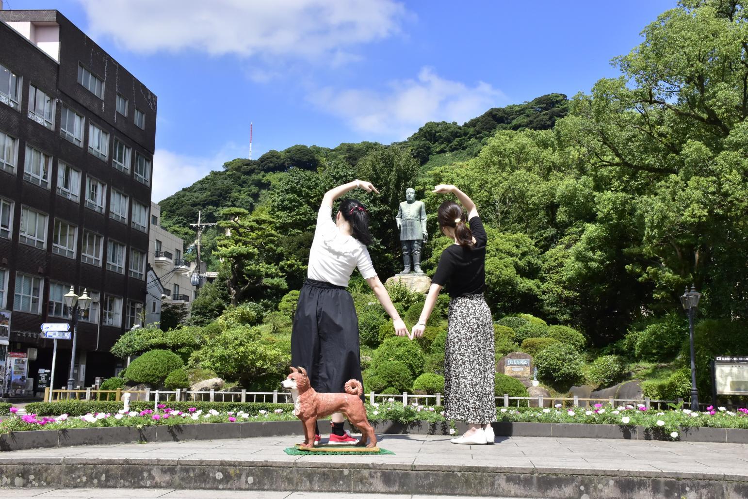 Bronze statue of Saigo Takamori-3