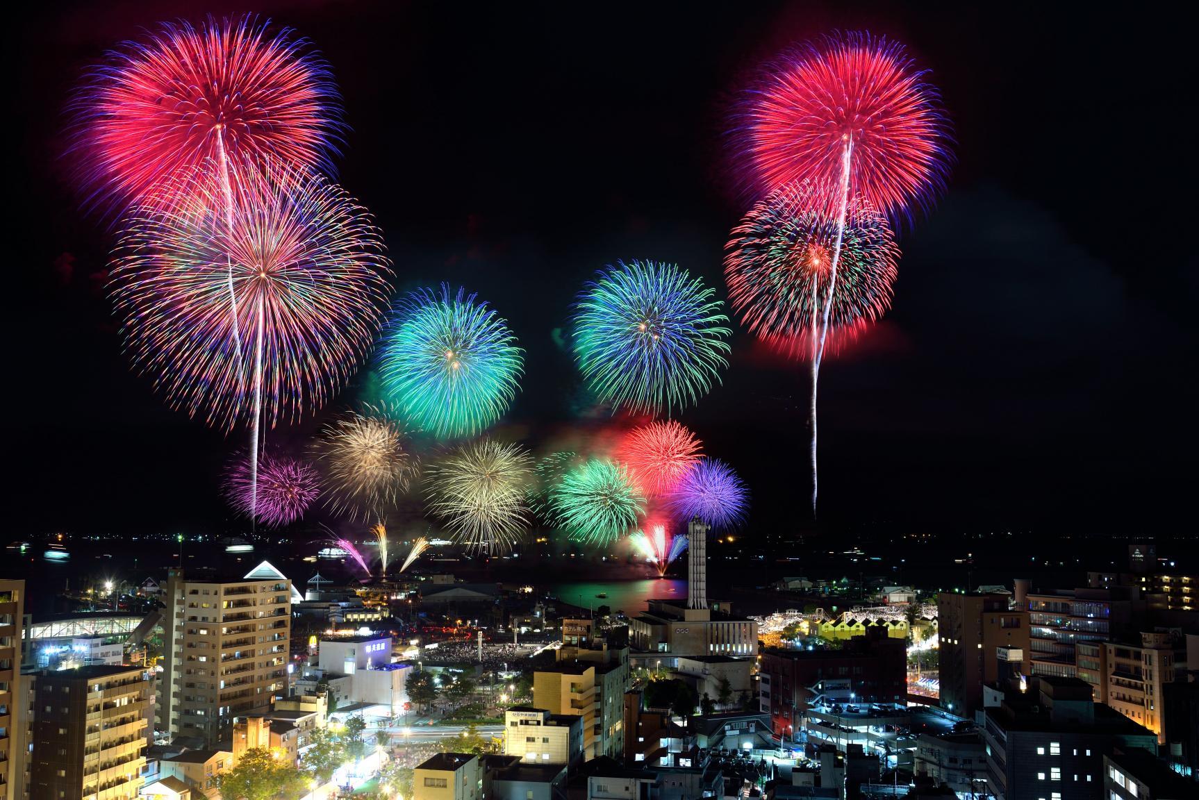 Kagoshima Kinko Bay Summer Night Fireworks Festival-1