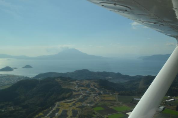 遊覧飛行 桜島コース-7