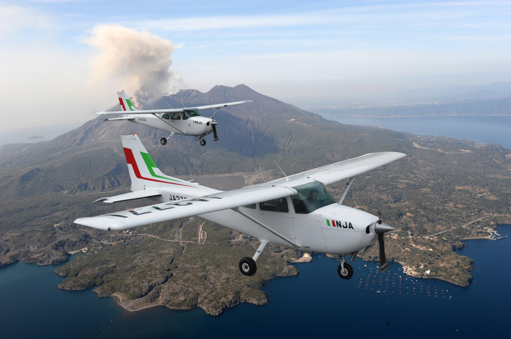 Sightseeing flight: Sakurajima course-1