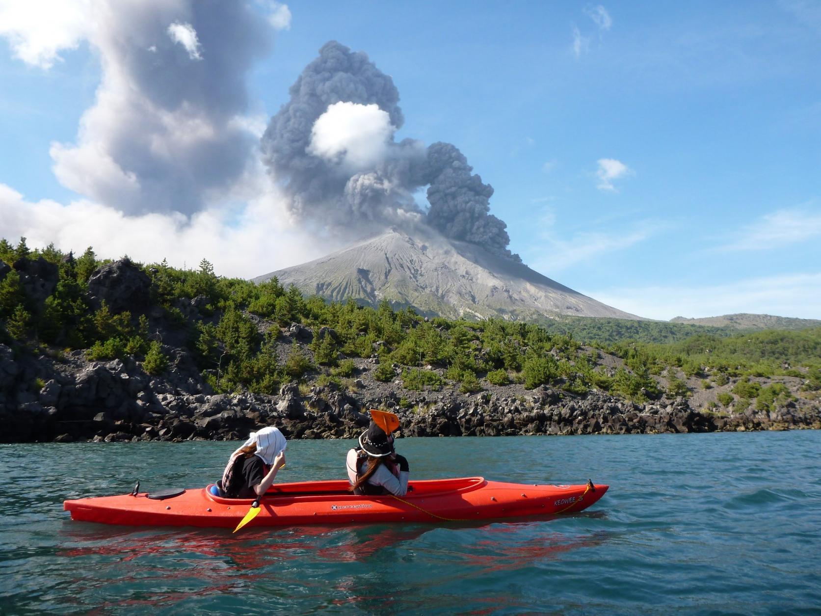 【Kagoshima Kayaks】카약 사쿠라지마 반날 카약 투어-0