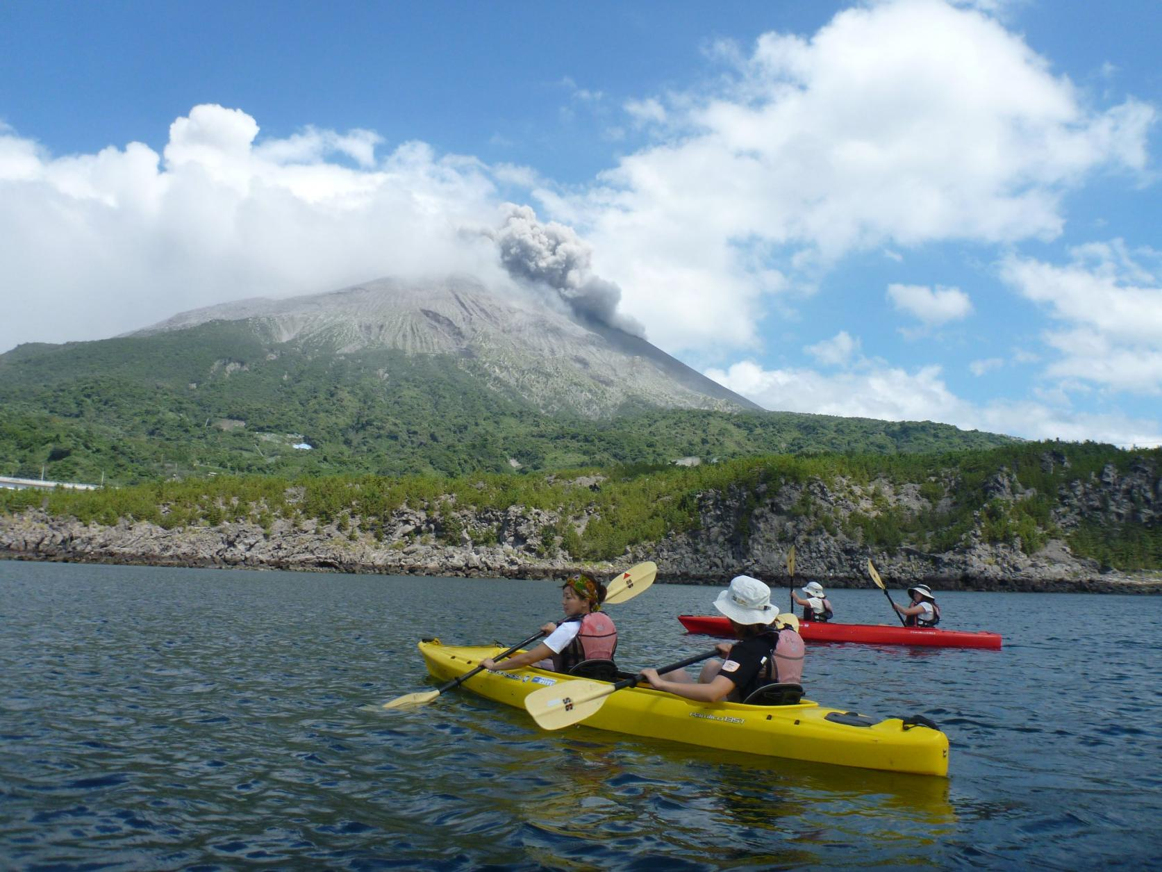 【Kagoshima Kayaks】카약 사쿠라지마 반날 카약 투어-2