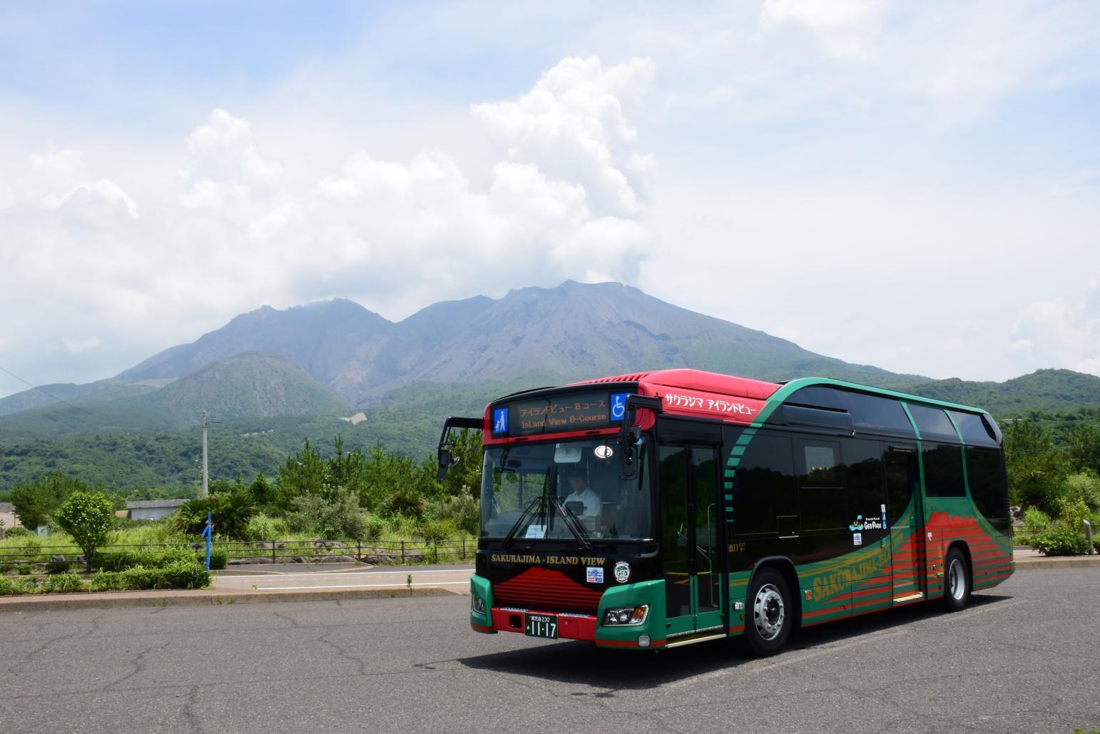 繞行櫻島的「櫻島觀光巴士」-1