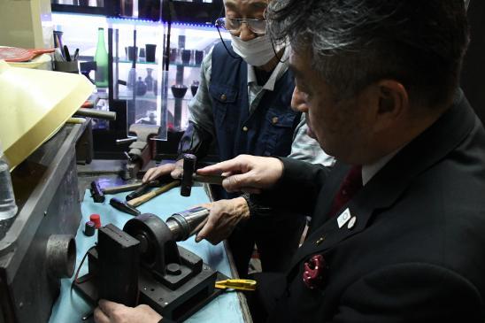 錫彦 浅田錫器 錫器製作体験-2
