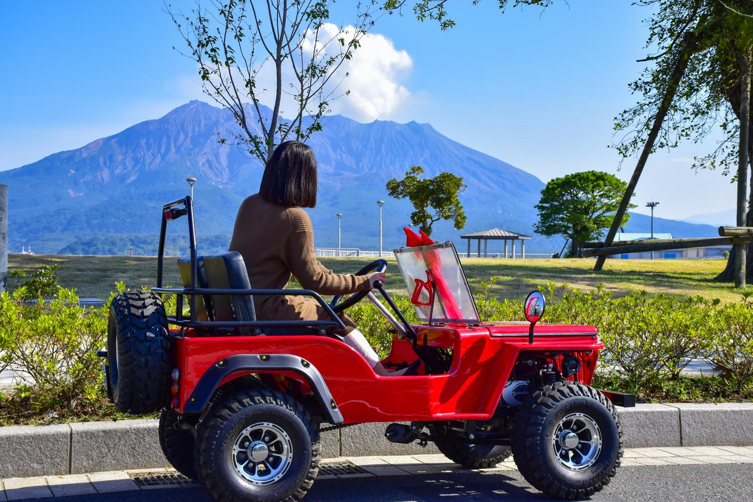 Freely touring around Kagoshima in a mini Jeep-1